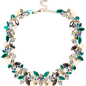 Turquoise gem statement necklace