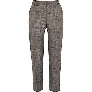 Dark grey smart straight trousers