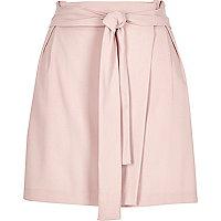 Light pink waisted wrap skirt