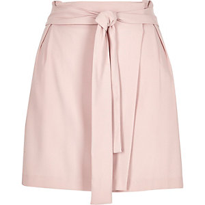 Light pink waisted wrap skirt