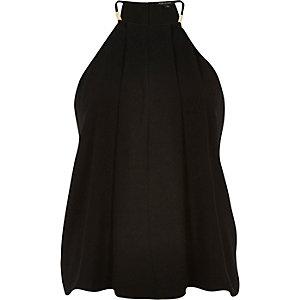 Black halter strappy cami