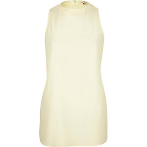 Cream high neck tank top