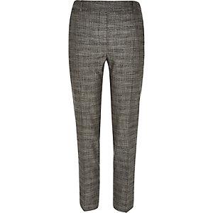 Grey marl smart slim trousers