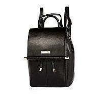 Black minimal metal bar backpack