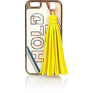 Pink large tassel iPhone 6 case