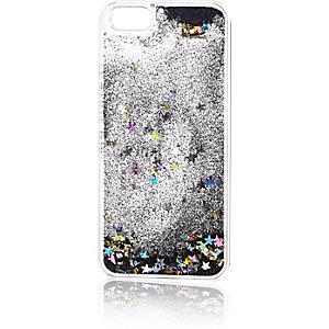 Black iPhone 5 glittery phone case