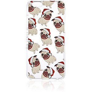 White iPhone 5c pug phone case