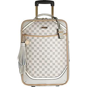 Beige monogram wheelie suitcase