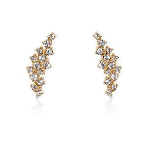 Gold tone embellished ear cuffs