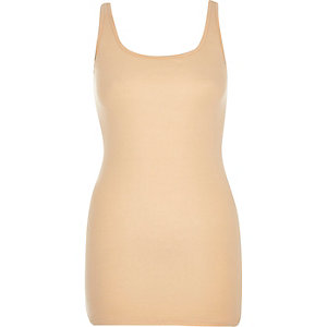 Peach scoop neck tank top