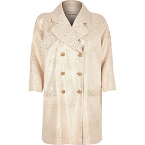 Cream 60s jacquard coat