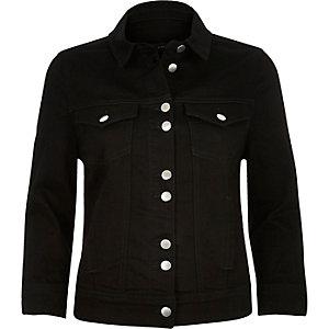 Black shrunken denim jacket