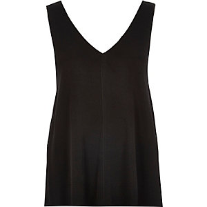 Black V-neck vest