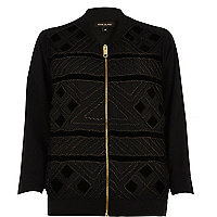 Black cornelli trim bomber jacket
