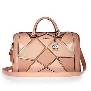 Pink patchwork weekend bag