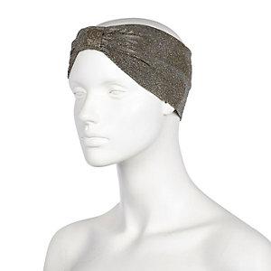 Black sparkly turban