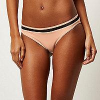 Light pink mesh bikini bottoms