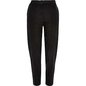 Black tailored cigarette trousers