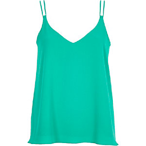 Bright green double strap cami
