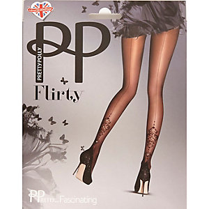 Pretty Polly black embellished tights