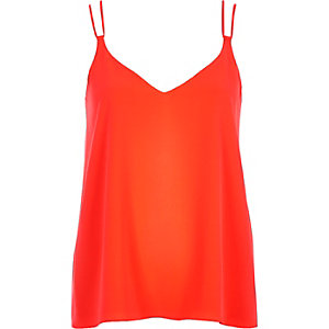 Bright orange double strap cami