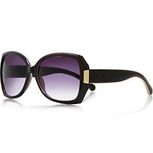 Schwarze große Sonnenbrille