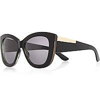 Black chunky cat eye sunglasses