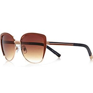 Brown retro cat eye sunglasses