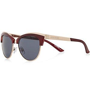 Dark red retro sunglasses