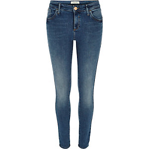 Mid wash blue Amelie superskinny jeans