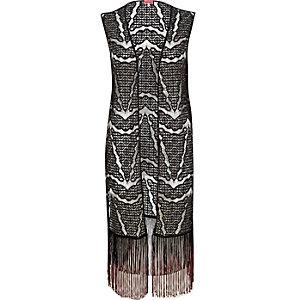 Black lace tassel trim cover-up