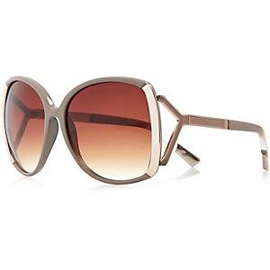 Beige oversized sunglasses