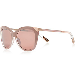 Pink large cat eye sunglasses
