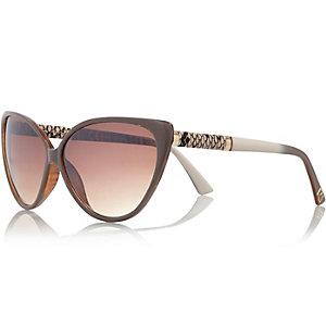 Grey cat eye sunglasses