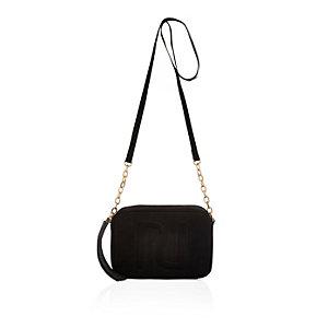 Black RI cross body handbag