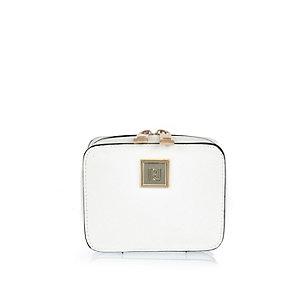 White zip jewelry case