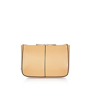 Beige simple make up bag