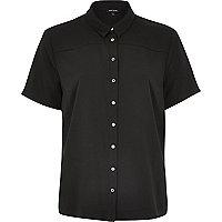Black short sleeve boxy shirt