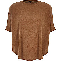 Brown knitted circle t-shirt
