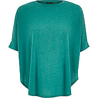 Bright green knitted circle t-shirt