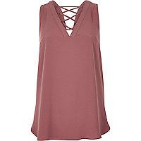 Pink lattice back vest
