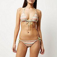 Pink reversible zig zag bikini bottoms