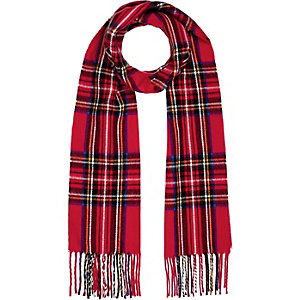 Red check blanket scarf