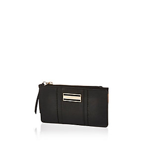 Black slim fold out purse