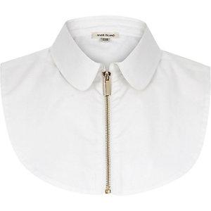 White zip bib