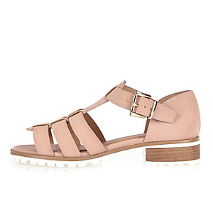 Pink strappy open toe geek sandals
