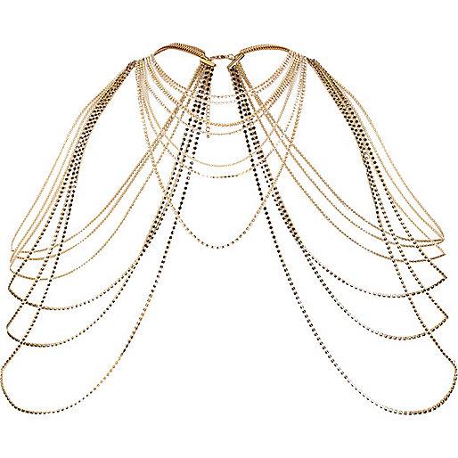 Harnais d'épaules doré drapé