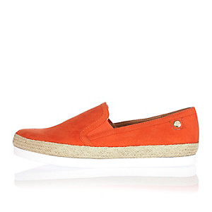 Orange espadrille plimsolls