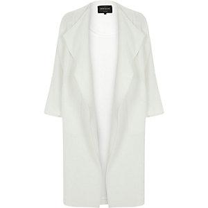 White draped coat