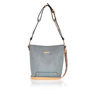 Light blue monogram strap handbag
